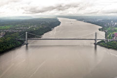 Hudson River from a helicopter, New York, USA. Stock Photography