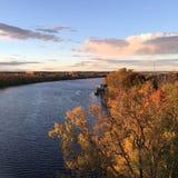 Hudson River im Fall Stockfotos