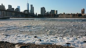 Hudson River. January 2015 Stock Image