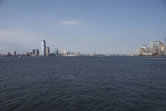 Hudson River between Manhatten and New Jersey Stock Photo