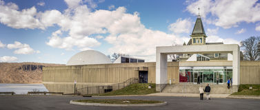 Hudson River Museum, gelegen in Trevor Park in Yonkers, New York Stockfoto