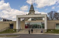 Hudson River Museum, in Trevor Park in Yonkers, New York wordt gevestigd dat Royalty-vrije Stock Foto