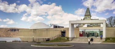 Hudson River Museum, in Trevor Park in Yonkers, New York wordt gevestigd dat Stock Foto