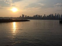Hudson River New Jersey New York Stock Image