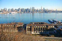 Hudson River with New York City Skyline Stock Images