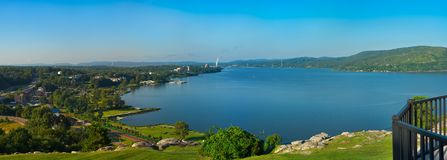 Hudson River panorama Peekskill NY royalty free stock photos
