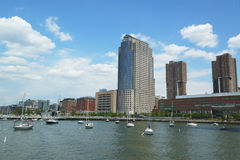 Hudson River Park in Tribeca-Bezirk in Manhattan Stockbilder