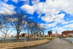 Hudson River Park Trust. Waterside park stock photo