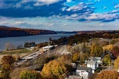 Hudson River - Poughkeepsie NY Lizenzfreie Stockfotos