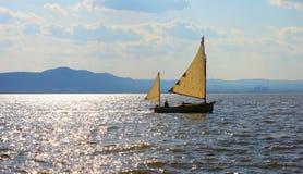 Hudson River Sailing Royaltyfria Bilder