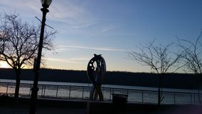 Hudson River sculpture Royalty Free Stock Images