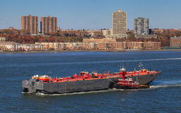 Hudson River Shipping stock afbeelding