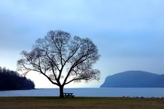 Hudson River Solace stock images