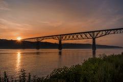 Hudson River Sunset Foto de archivo libre de regalías