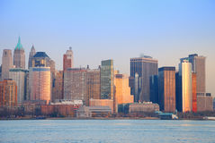 Hudson River Sunset, New York City Royalty Free Stock Photography