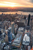 Hudson River sunset New York City Manhattan Royalty Free Stock Photo