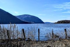 Hudson River. View Royalty Free Stock Image