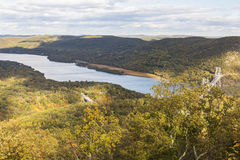 Hudson River View from Bear Mountain Peak Royalty Free Stock Photo