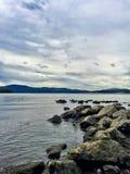 Hudson River vigoroso Fotografie Stock Libere da Diritti