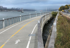 Hudson River Walkway Image stock