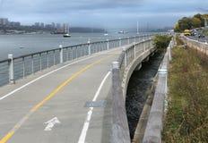 Hudson River Walkway Stock Image