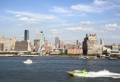 Hudson River Water Traffic Imagem de Stock