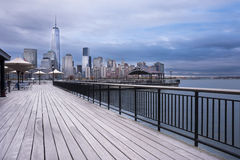 Hudson River Waterfront Walkway New Jersey City images stock