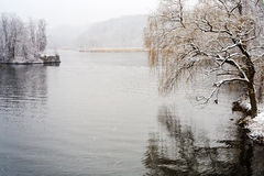 Hudson river in winter Royalty Free Stock Image