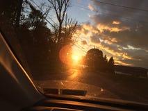 Hudson Valley, bewolkte de zonsondergang van New York Royalty-vrije Stock Fotografie