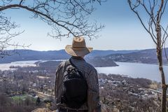 Hudson Valley overlook royalty free stock photo