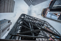 Hudson Yards Construction. Hudson Yards is a large-scale redevelopment program that is planned, funded and constructed under a set of agreements among the City Royalty Free Stock Photo