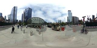 Hudson Yards NYC en formato equirectangular de 360 grados fotos de archivo