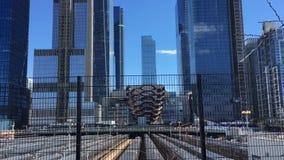 Hudson Yards NYC sah von der hohen Linie NYC an stock footage