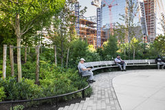 Hudson Yards Park, NYC Royalty Free Stock Images