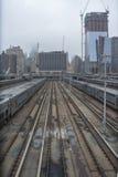Hudson Yards Station New York City. West Side of the Hudson Yards Train Station New York City Royalty Free Stock Photo