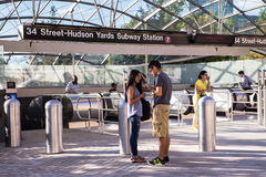 Hudson Yards Subway Extension NYC Fotografía de archivo
