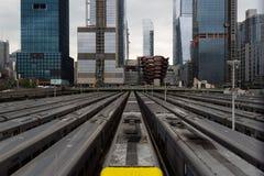 Hudson Yards Subway, New York City, Estados Unidos imagens de stock