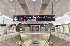 Hudson Yards Subway Station - NYC Imagenes de archivo