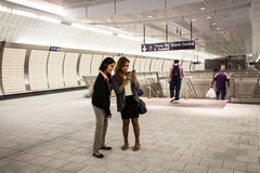 Hudson Yards Subway Station NYC Royalty Free Stock Image
