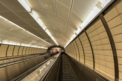Hudson Yards Subway Station - NYC. 34th Street - Hudson Yards 7 train subway station which opened in September, 2015 in New York City Royalty Free Stock Photo