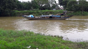 Hue湖小船 库存照片