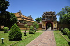 Hue Architecture. Beautiful architecture at the Hue Citadel in Vietnam royalty free stock images