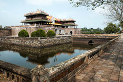 Hue Citadel, culture heritage, Dai Noi, vietnam, ngo mon. HUE, VIET NAM- FEB 19, 2016: Citadel, an culture heritage with Hoang Thanh (Imperial City),Tu Cam Thanh royalty free stock image