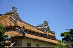 Hue Citadel Roof. A building roof in Hue Citadel Royalty Free Stock Photography