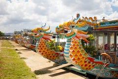 Hue City Dragon Boat foto de stock royalty free