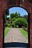 Hue Gate. Gate in Hue Citadel in Vietnam Stock Photo
