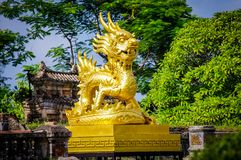 Hue Imperial Citadel Vietnam South East Asia. Very much one of the main tourist attractions and points of interest in the area Stock Image