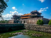 Hue Imperial Citadel Vietnam South East Asia. Very much one of the main tourist attractions and points of interest in the area Royalty Free Stock Image