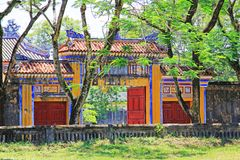 Hue Imperial City, de Werelderfenis van Unesco van Vietnam royalty-vrije stock afbeelding