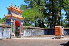 Hue Imperial Tomb da Turquia Duc, local do patrimônio mundial do UNESCO de Vietname foto de stock